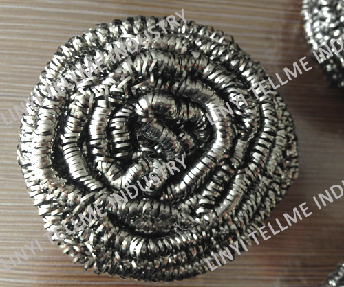 How to use the stainless steel scourer corretly