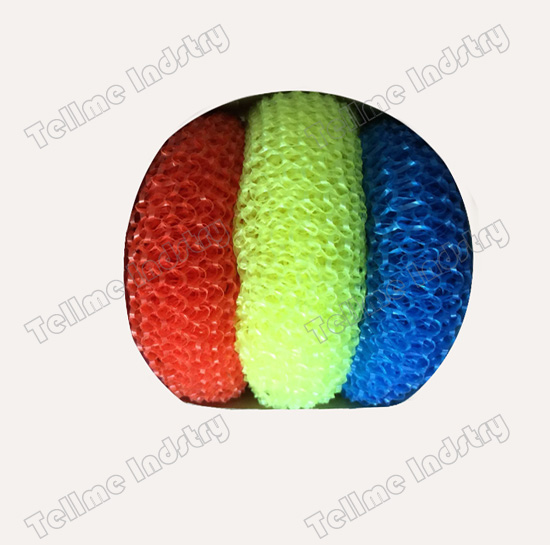 colorful plastic scourer
